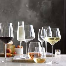 williams sonoma estate stemless white wine glasses set of 2