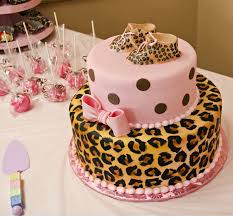 pintrest baby shower cake and decorations cheetah and pink baby