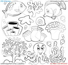 cute sea creatures coloring pages