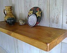 Reclaimed Wood Floating Shelves by Items Similar To Rustic Wood Floating Shelf With Hidden