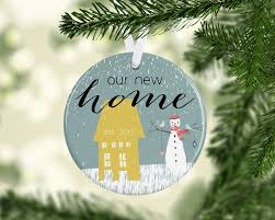 our first home christmas ornament personalized first home