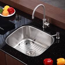stainless steel kitchen sink combination kraususa com kraus 20 inch undermount single bowl stainless steel kitchen sink with kitchen bar faucet soap