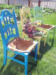 Outdoor Planter Ideas by Wonderwoman Creations Chicken Wire In Old Chairs For Planters