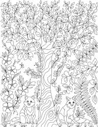 forest leaves coloring pages coloring