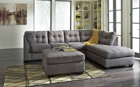 furniture living room with grey upholstered sectional sofa with