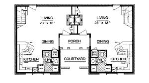 waldenburg tudor style duplex plan 020d 0063 house plans and more