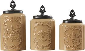 brown kitchen canisters design guild 3 kitchen canister set reviews wayfair