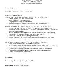 host resume objective hostess resume objective hostess host