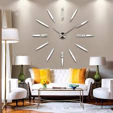 sticker wall clock todosobreelamor info sticker wall clock wall clock sticker big clock wall decal diy home decorating idea