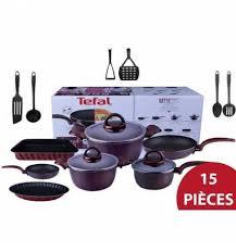 tefal batterie de cuisine achat batterie de cuisine 15 pièces set sensorielle tefal