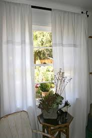 Linen Drapes White Linen Curtains For Clean Looking House Teresasdesk Com