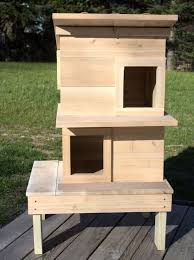 Two Story Deck Outdoor Cat Houses