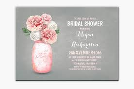 jar bridal shower invitations read more pink flowers painted jar bridal shower invites