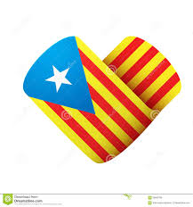 Flag Of Catalonia Flag Icon In The Form Of Heart I Love Catalonia Stock