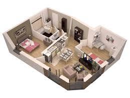 plan appartement 3 chambres plans 3d d appartements studios maisons plus immo