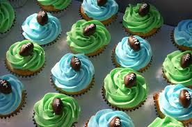 green and blue football cupcakes lolo u0027s cakes u0026 sweets
