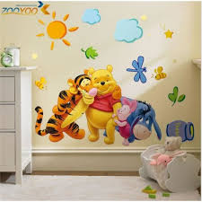 stickers disney chambre bébé sticker winnie l ourson walt disney achat vente stickers cdiscount