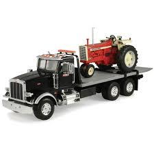 big farm 1 16 peterbilt model 367 truck with flatbed and farmall