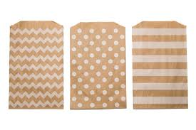 favor bag patterned kraft favor bag set of 30 pike and pine paper