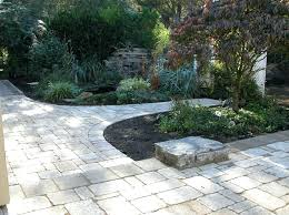 Paving Backyard Ideas Front Yard Pavers Walkway And Circle Seating Area Small Front Yard