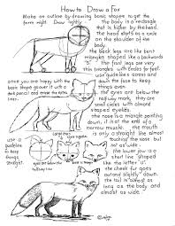 how to draw worksheets for the young artist how to draw a fox