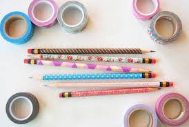 What Is Washi Tape The Pink Doormat Decorate Your Pencils With Washi Tape