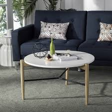 mid century round coffee table safavieh mid century thyme round coffee table free shipping intended