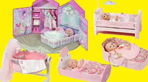 baby dolls nursery center bedroom toys dolls bed cradle sleeping
