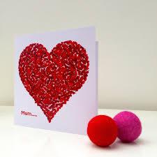 thank you mum red heart card u2013 inkywool