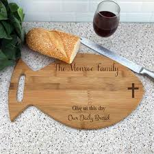 engraved cutting boards personalized fish shaped daily bread cutting board custom wood