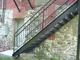 stairs astounding prefab metal stairs residential exterior metal