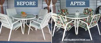 Reupholster Patio Furniture Cushions Diy Patio Makeover On The Cheap Of Reduction