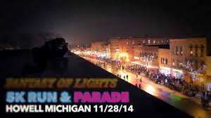fantasy of lights 5k howell fantasy of lights 5k parade with choir youtube