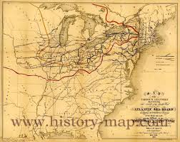 Map Of The Erie Canal Erie Canal Large Thinglink Maps United States Map With Rivers