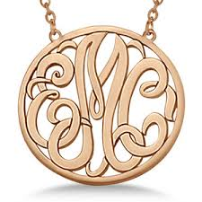 monogram initials necklace 14 karat gold monogram necklaces polyvore