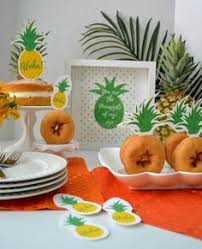 pineapple printable cupcake toppers birthdays luau and moana