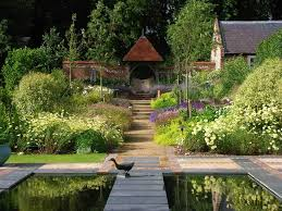 herbaceous borders in hampshire country garden