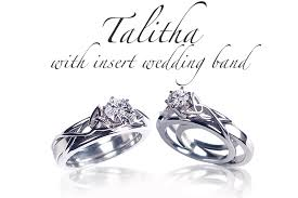 wedding ban celtic engagement rings talitha with insert wedding band
