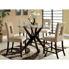 Dining Room Tables Set by Glass Round Dining Table Set