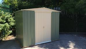Contemporary Garden Sheds Outdoor Living Today Spacesaver 8 Ft W X 4 Ft D Garden Shed With