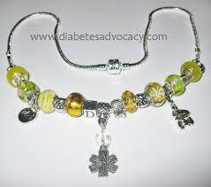 pandora style necklace silver images Diabetes advocacy necklaces JPG