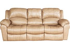 Leather Reclining Sofa Magnificent Leather Reclining Sofa Beige For Your Small Home