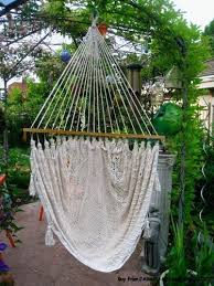 ornate brazilian hammock with crocheted fringes and ends homey