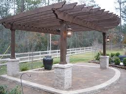Patio Pavers Houston Custom Designed Built Rustic Pergola In Houston With Belgard