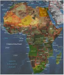 Map Of North Africa And Middle East by Google Map Of Africa Nations Online Project