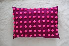 mini pom pom pillow diy u2013 a beautiful mess