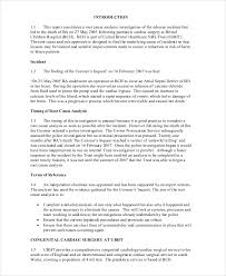 coroner s report template root cause analysis template free template exles
