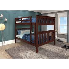 Bunk Bed With Mattress Hunter Traditional Dark Cherry Wood Bunk Bed And Trundle By
