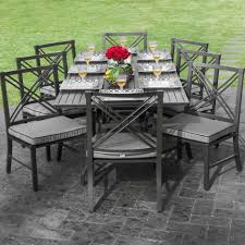 dining tables black metallic material patio furniture sets with