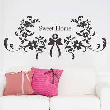 Home Letters Decoration Cartoon Sweet Dream Quote Letters Wall Stickers Flower Decorative